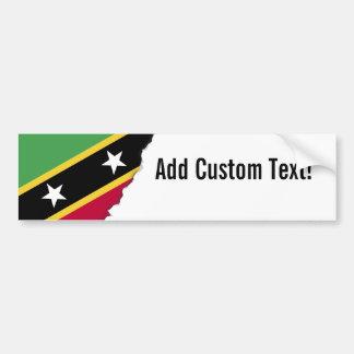 Adesivo De Para-choque St. Kitts e bandeira de Nevis