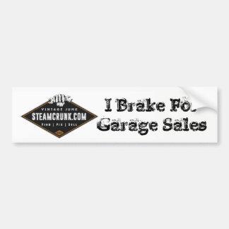 Adesivo De Para-choque Steamcrunk: Eu travo para vendas de garagem