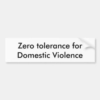Adesivo De Para-choque Suporte contra a violência doméstica