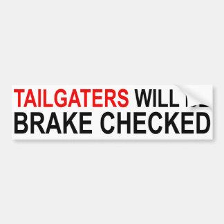 Adesivo De Para-choque Tailgaters será freio verificado
