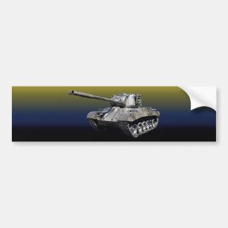 Adesivo De Para-choque Tanque solitário - autocolante no vidro traseiro