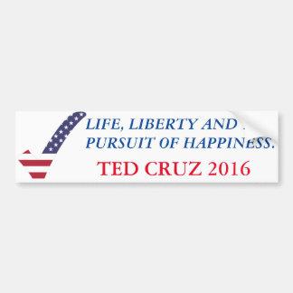 Adesivo De Para-choque Ted Cruz 2016-Life, liberdade, perseguição de