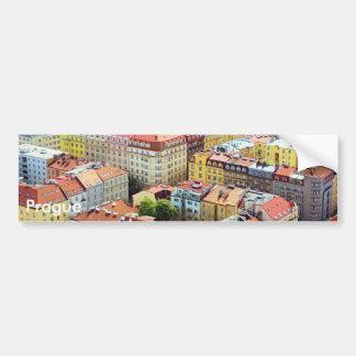Adesivo De Para-choque Telhados do autocolante no vidro traseiro de Praga