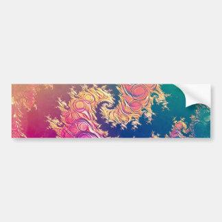 Adesivo De Para-choque Tentáculos do polvo do arco-íris em uma espiral do