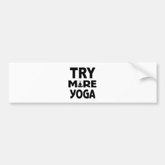 Adesivo De Para-choque Tente mais ioga