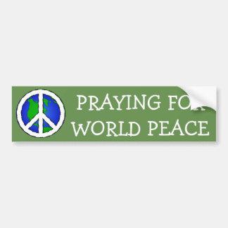 Adesivo De Para-choque Terra da paz de mundo e AUTOCOLANTE NO VIDRO