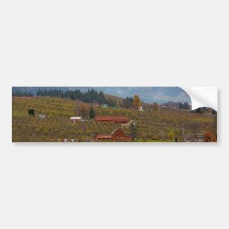 Adesivo De Para-choque Terra do pomar de fruta em Hood River Oregon