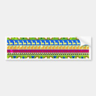 Adesivo De Para-choque Teste padrão africano do unicórnio