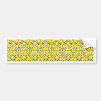 Adesivo De Para-choque Teste padrão amarelo do festival