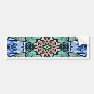 Adesivo De Para-choque Teste padrão artístico do pêssego moderno do Lilac