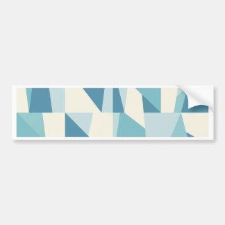 Adesivo De Para-choque Teste padrão azul geométrico
