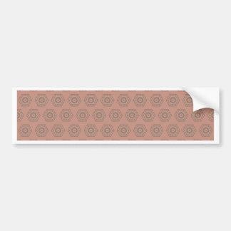 Adesivo De Para-choque Teste padrão cor-de-rosa do polígono