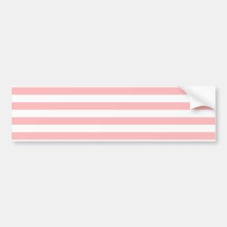 Adesivo De Para-choque Teste padrão cor-de-rosa e branco da listra