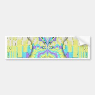 Adesivo De Para-choque Teste padrão de néon festivo vibrante do abstrato