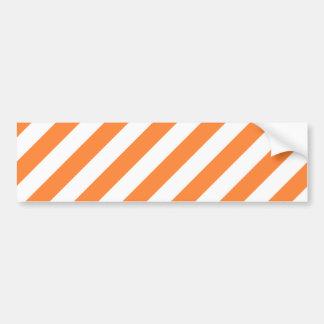 Adesivo De Para-choque Teste padrão diagonal alaranjado e branco das