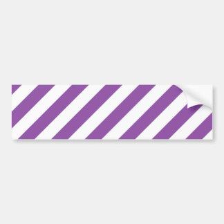Adesivo De Para-choque Teste padrão diagonal roxo e branco das listras