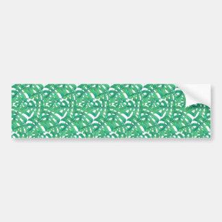 Adesivo De Para-choque Teste padrão tropical das folhas do monstera verde
