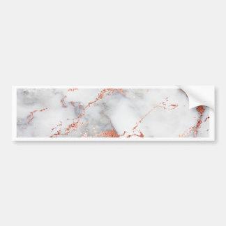 Adesivo De Para-choque textura cor-de-rosa do mármore do ouro