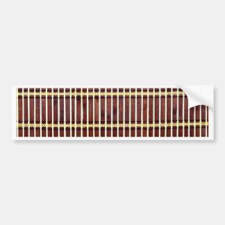 Adesivo De Para-choque textura de bambu da esteira
