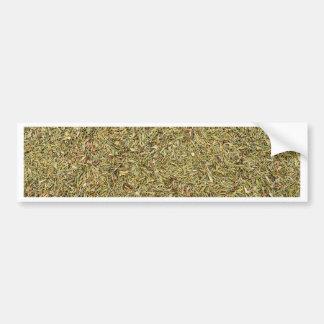 Adesivo De Para-choque textura secada do tomilho
