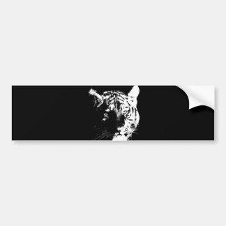 Adesivo De Para-choque Tigre preto & branco do pop art