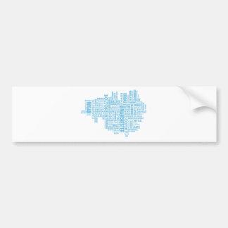 Adesivo De Para-choque Tipo azul mapa de maior Manchester
