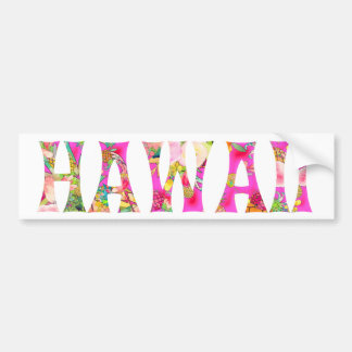 Adesivo De Para-choque Tipografia de PixDezines Havaí Tiki
