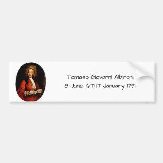 Adesivo De Para-choque Tomaso Giovanni Albinoni