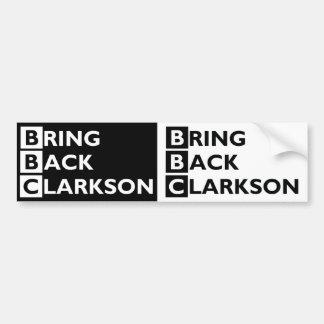 Adesivo De Para-choque Traga para trás Clarkson 2 para 1 autocolante no