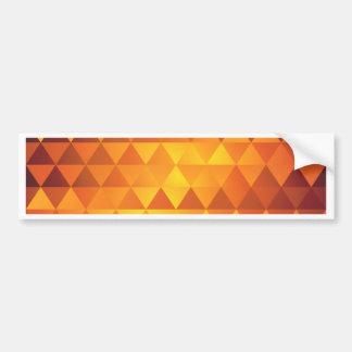 Adesivo De Para-choque Triângulos amarelos abstratos