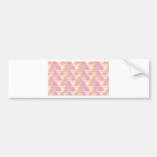 Adesivo De Para-choque Triângulos cor-de-rosa