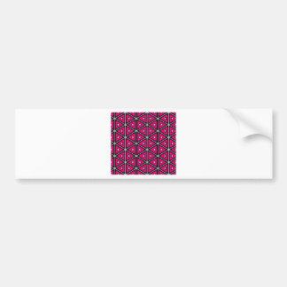 Adesivo De Para-choque Triângulos do rosa quente