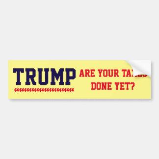 """Adesivo De Para-choque """"Trunfo. São seus impostos feitos ainda! """""""