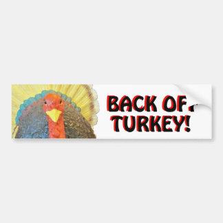 Adesivo De Para-choque Turquia abundante diz desembaraça do preto no