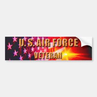 Adesivo De Para-choque U.S. Autocolante no vidro traseiro do veterano da