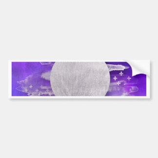 Adesivo De Para-choque ultravioleta, moderno, roxo, triângulo, prata, na