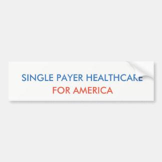 Adesivo De Para-choque Únicos cuidados médicos do pagador