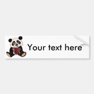 Adesivo De Para-choque Urso de panda engraçado que joga o acordeão