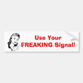 "Adesivo De Para-choque ""Use autocolante no vidro traseiro do seu sinal"