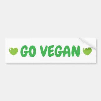 Adesivo De Para-choque Vai o autocolante no vidro traseiro do vegan