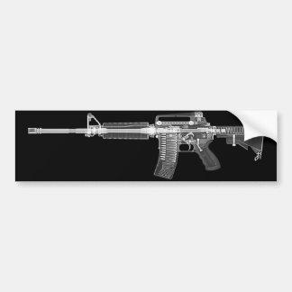 Adesivo De Para-choque Varredura do CT/rifle do raio X AR15 autocolante