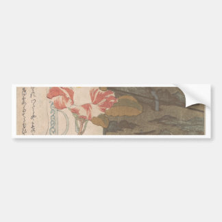 Adesivo De Para-choque Vaso de flor e caixa da laca - chinês
