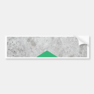 Adesivo De Para-choque Verde concreto #175 da seta