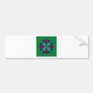 Adesivo De Para-choque Verde da mandala do ethno dos elementos do design