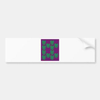Adesivo De Para-choque Verde exótico das palmas no roxo