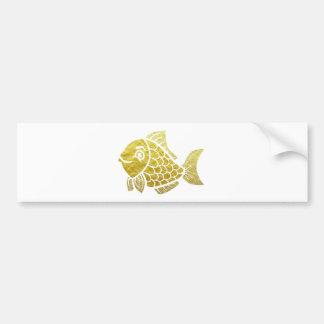 Adesivo De Para-choque Vida dos peixes do ouro