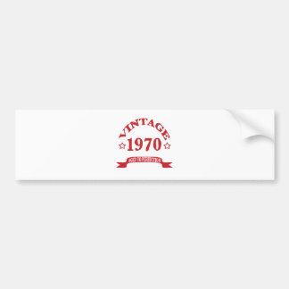 Adesivo De Para-choque Vintage 1970 envelhecido a Paerfection