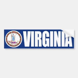 Adesivo De Para-choque Virgínia com bandeira do estado