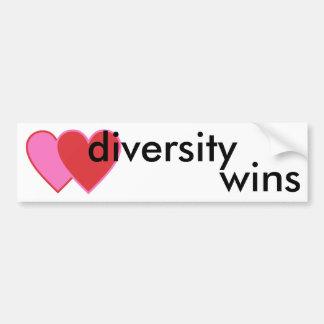 Adesivo De Para-choque vitórias da diversidade