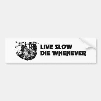 Adesivo De Para-choque Vive lento morre sempre que o autocolante no vidro